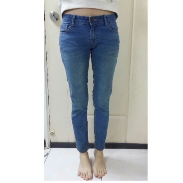 50%藍色牛仔長褲