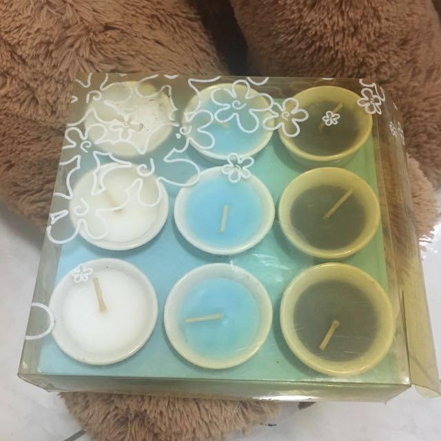聖誕節交換禮物🎄~蠟燭9入一組~3色