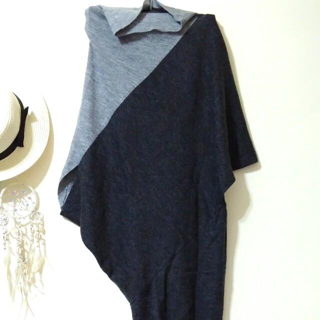 不規則拼色長版衣&洋裝