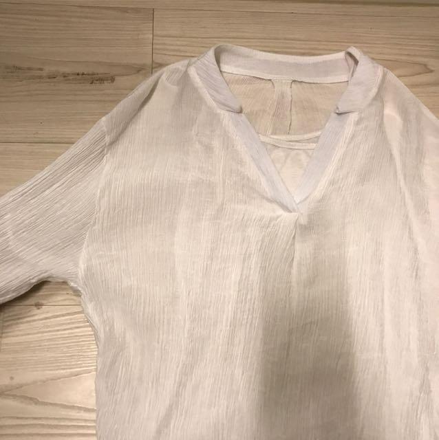 中山領白襯衫