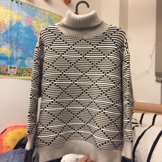 針織高領毛衣