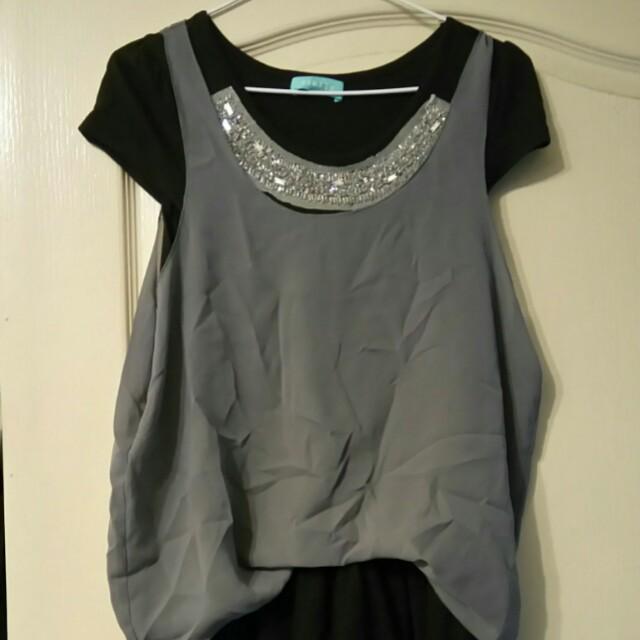 長版紗裙上衣/洋裝