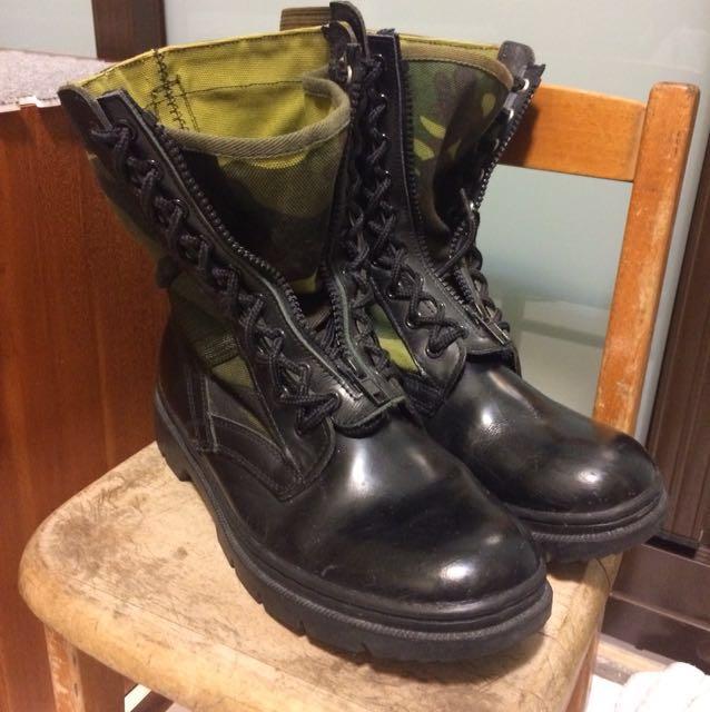 國軍傳統迷彩靴,踢不爛系列
