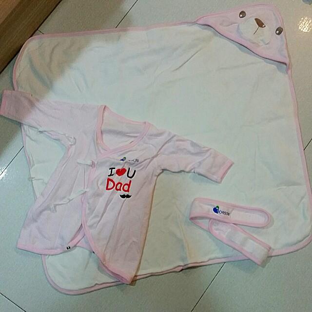 新生兒包巾,蝴蝶衣