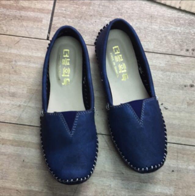 牛仔豆豆鞋