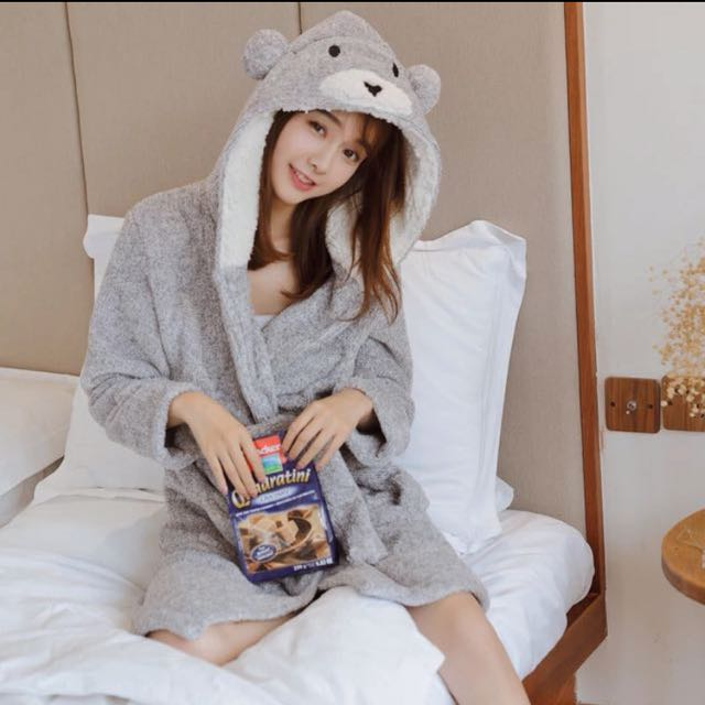 秋冬季可愛小熊睡袍🐻 預購