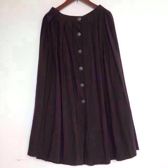 [ 單件 $ 299 免運 ]Vintage 歐美古著 摩登復古 素色 方格紋 花柄碎花 百褶 大裙襬 長裙