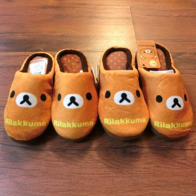 含運 可愛 冬天 室內拖鞋 拉拉熊 正版 (含運限全家店到店取貨)
