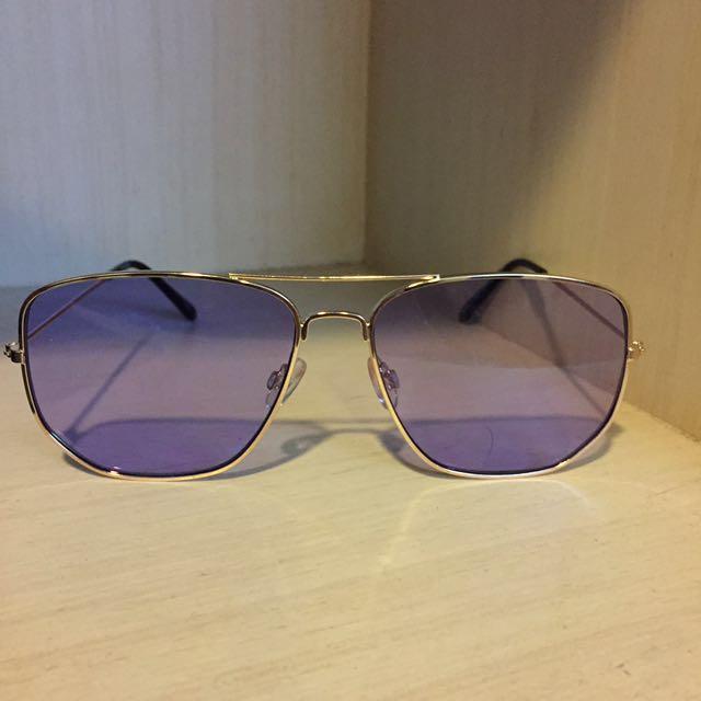 歐美 紫色鏡片 眼鏡 太陽眼鏡 GD sunglasses
