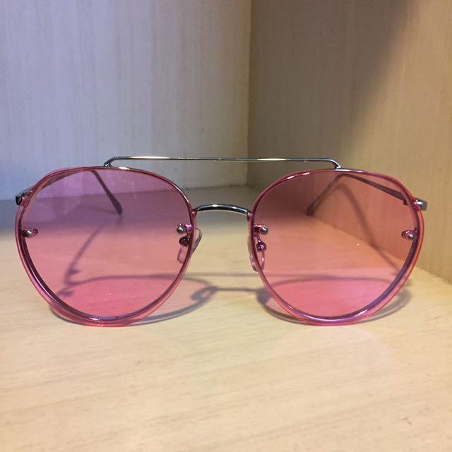 粉紅色鏡片 眼鏡 太陽眼鏡 GD sunglasses