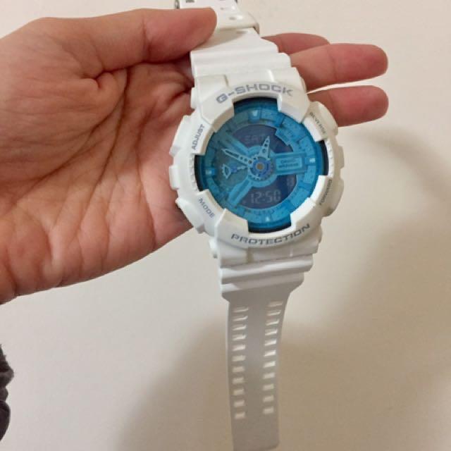 正 G-SHOCK 手錶近全新 附贈三個顏色錶帶
