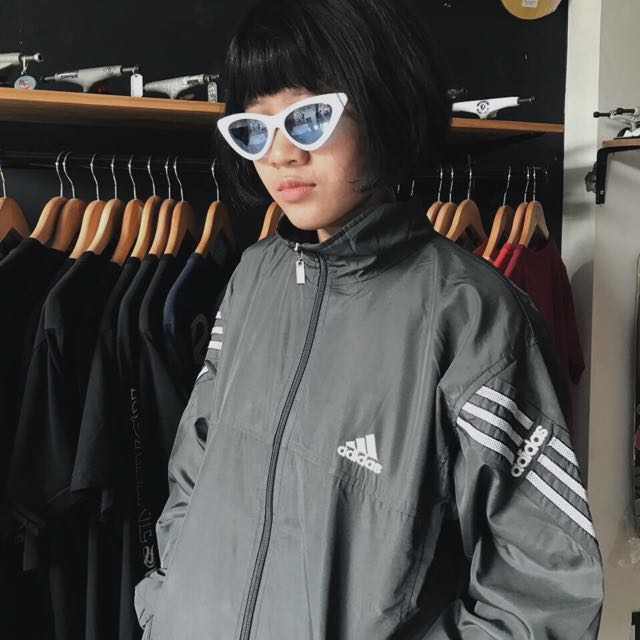 Adidas Grey Tracktop Jacket