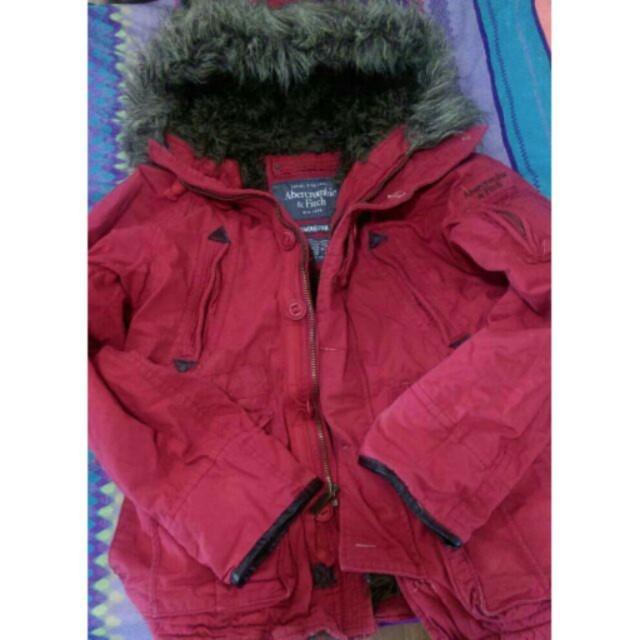 A&F Abercrombie & Fitch 連帽內絨毛保暖外套