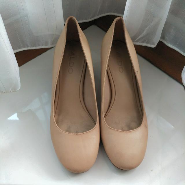 ALDO nude/cream block heels