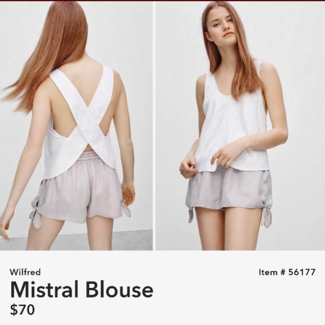 Aritzia Wilfred Mistral Blouse BNWT