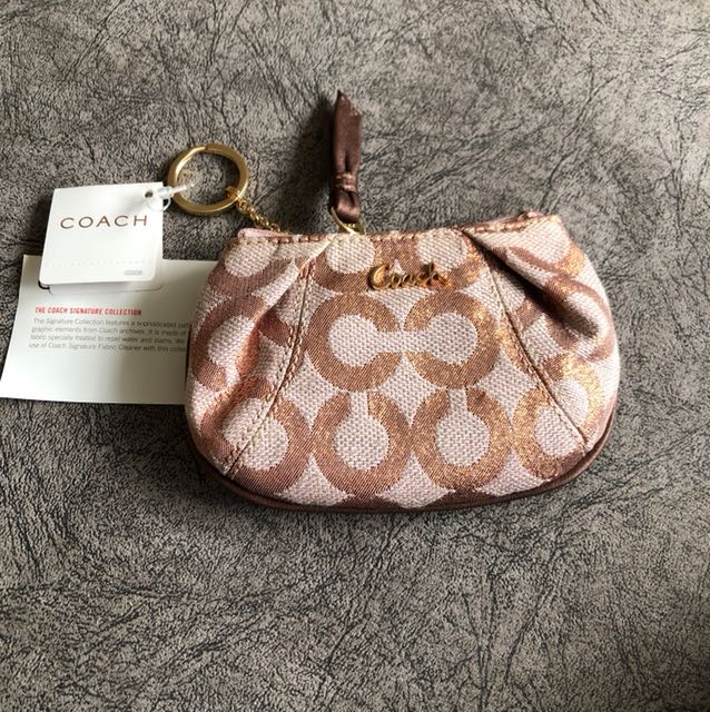 Authentic Coach Pouch with Keyring