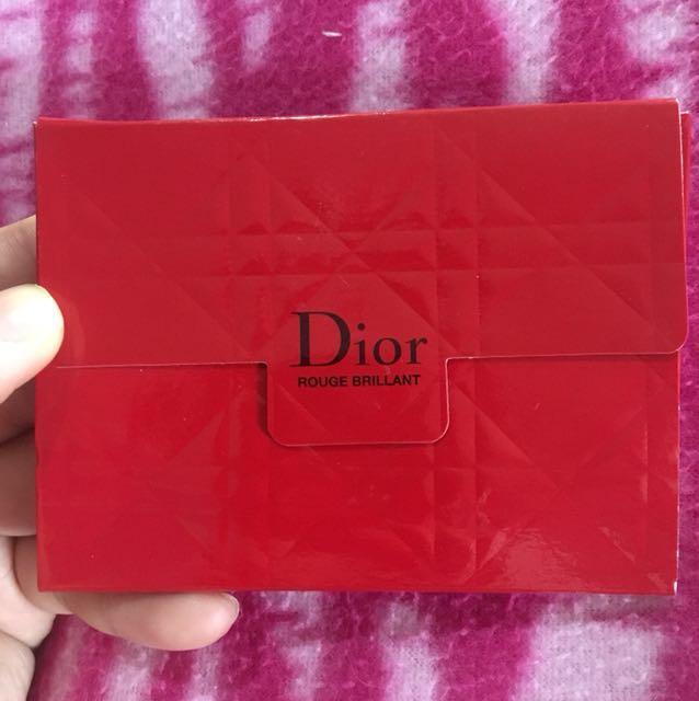 Authentic Dior Rouge Brilliant Lippies Sample