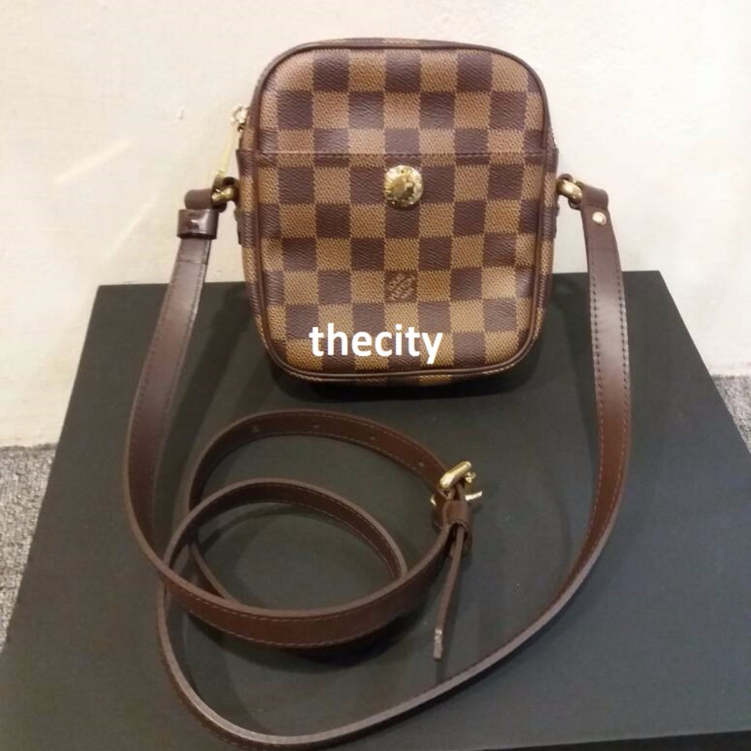 b66881a6d AUTHENTIC LOUIS VUITTON DAMIER EBENE RIFT SMALL SLING MESSENGER BAG - GOOD  CONDITION, Luxury, Bags & Wallets on Carousell