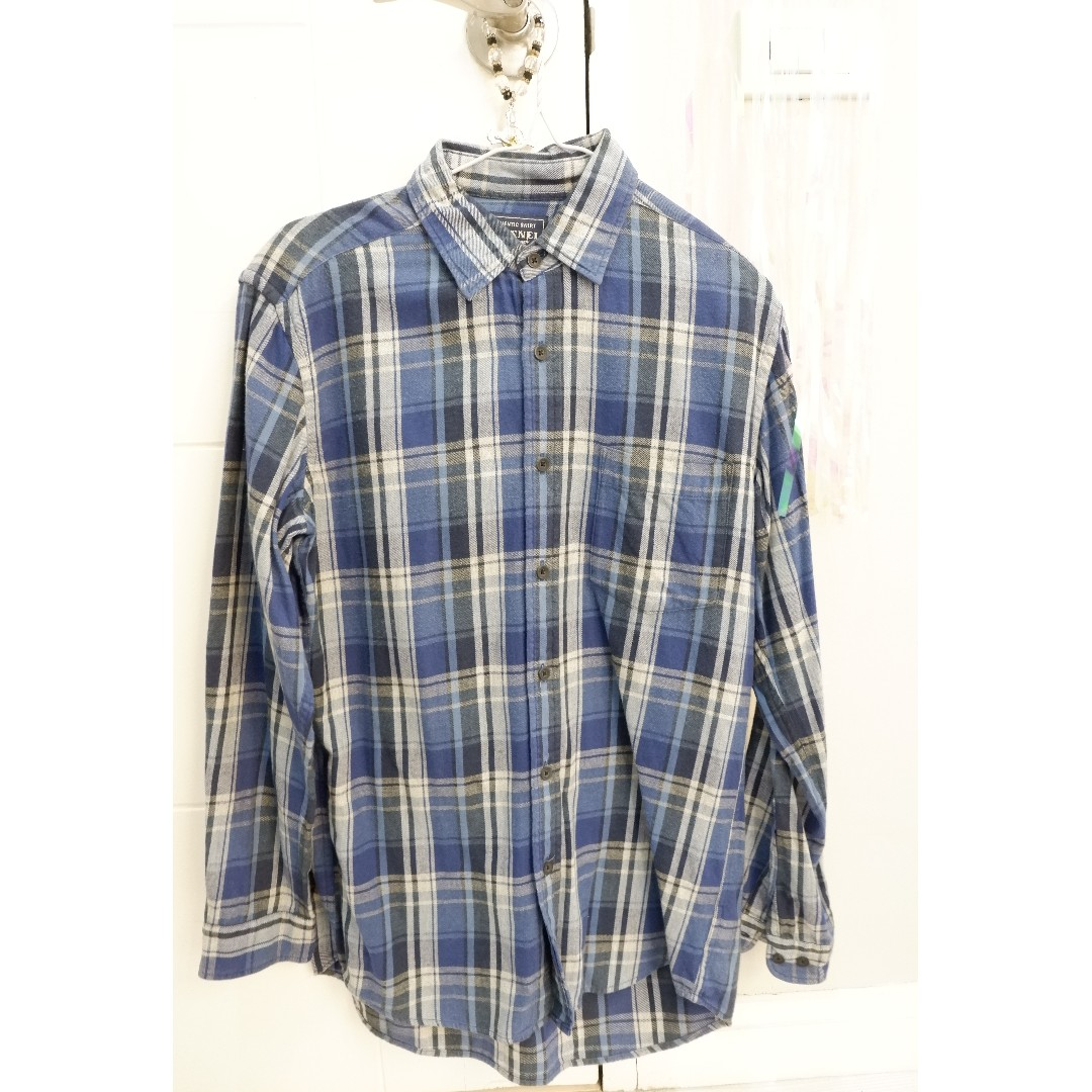 AUTHENTIC SHIRT FLANNEL BLUE long-sleeved polo