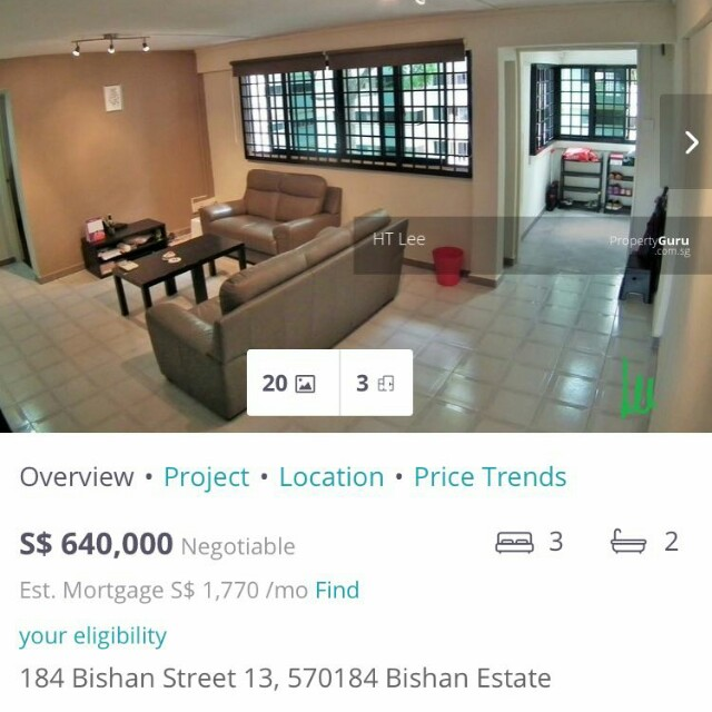 Bishan st 13 blk 184 for sale