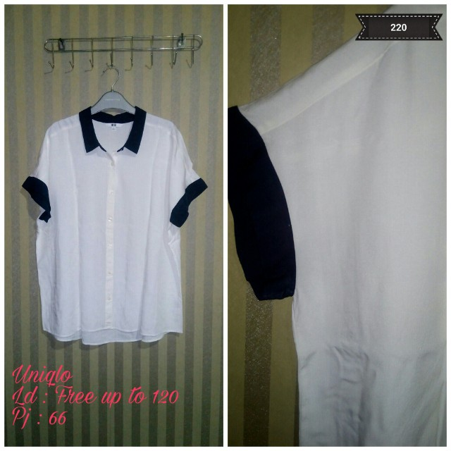 Blouse two tone by uniqlo