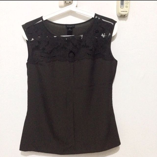 Blouse you can see coklat