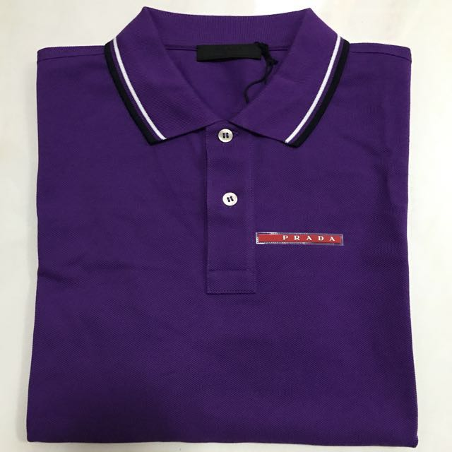 023251b06 BN Authentic Prada Polo Shirt, Luxury, Apparel on Carousell