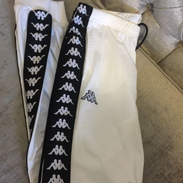 Bnwot kappa white and black pants.