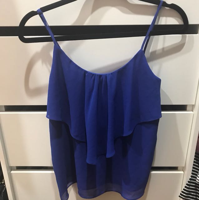 BNWT FOREVER NEW TOP BLUE SIZE 6