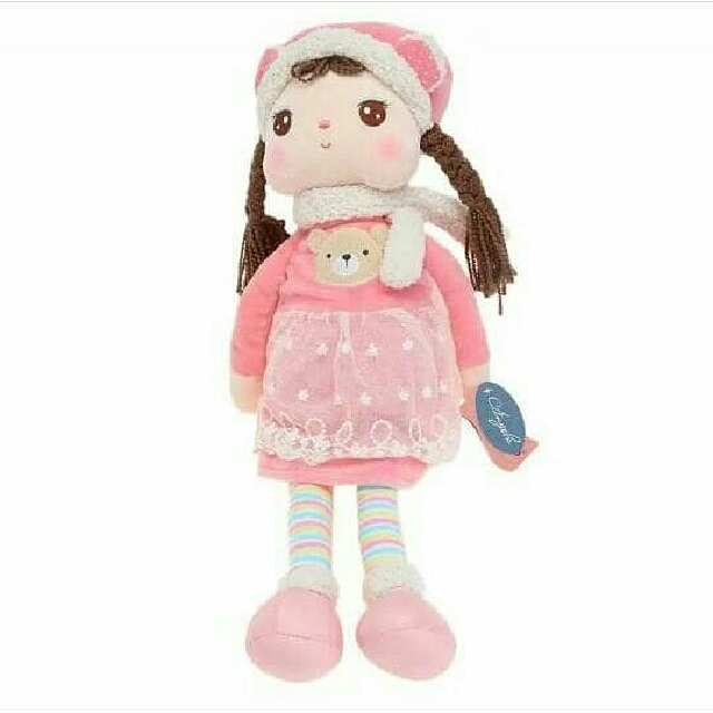 BONEKA METOO BRAID PINK GIRL ORI KIDS IMPORT