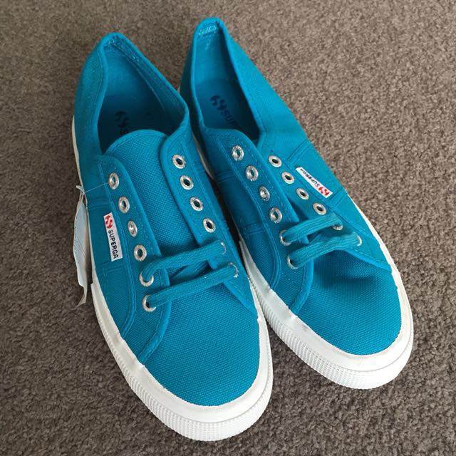 Brand new Superga 2750 Cotu Classic Casual Shoes Azure Blue 43