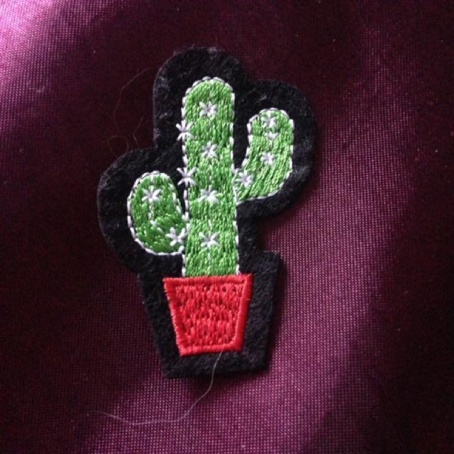 Cactus Iron On Patch
