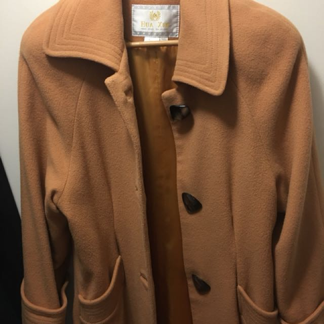 Caramel wool winter coat