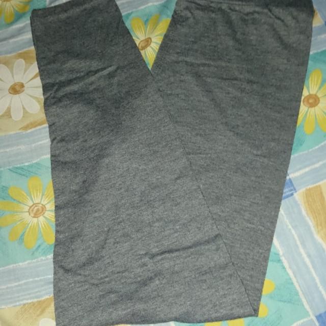Celana legging skinny wanita abu abu