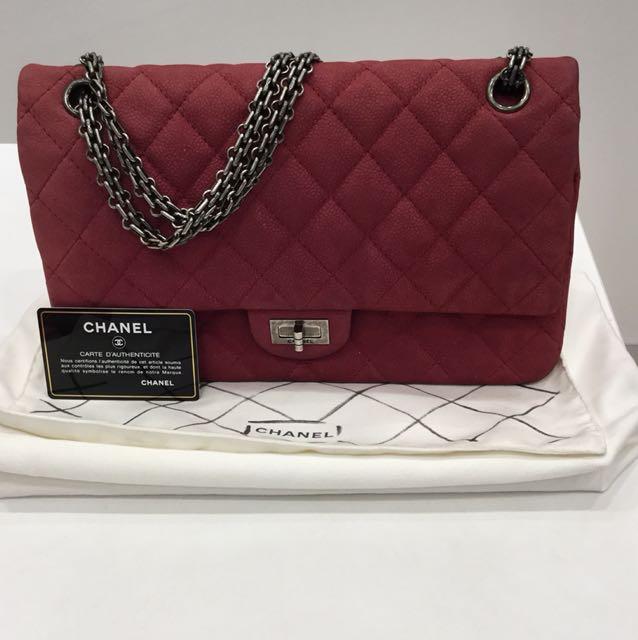 b778b52709c8a6 Chanel 2.55 Reissue 227 Double Flap Fuchsia Jersey Bag, Luxury, Bags ...