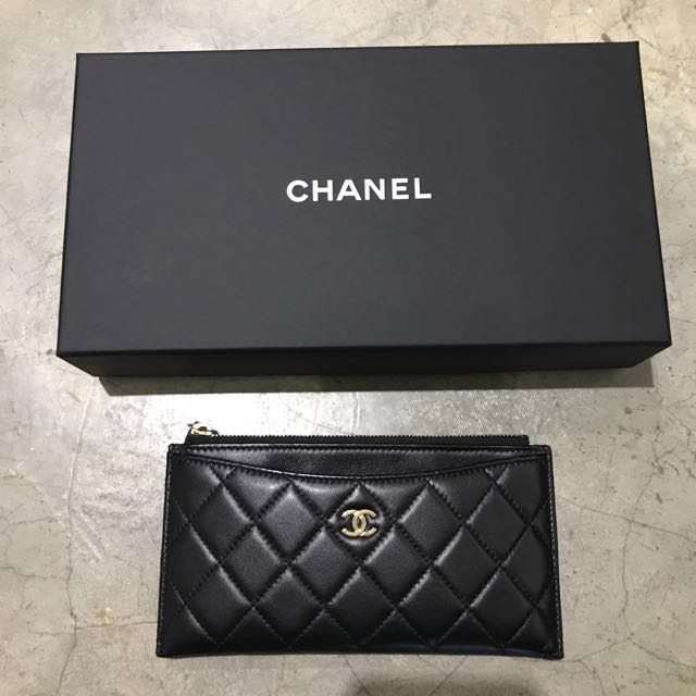 8f931645d93e Chanel flat pouch / Long wallet, Luxury, Bags & Wallets on Carousell