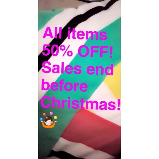 Christmas Sales! Half Price!