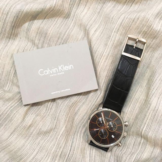 正品三眼ck手錶K2G271C