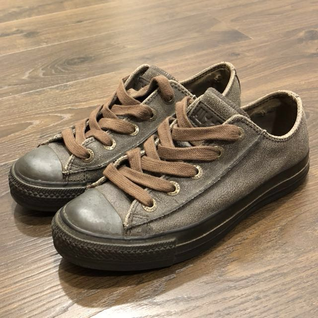 #CONVERSE# @ALL STAR 深咖啡色 牛皮 休閒鞋