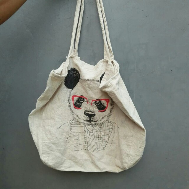 cotton on totebag panda