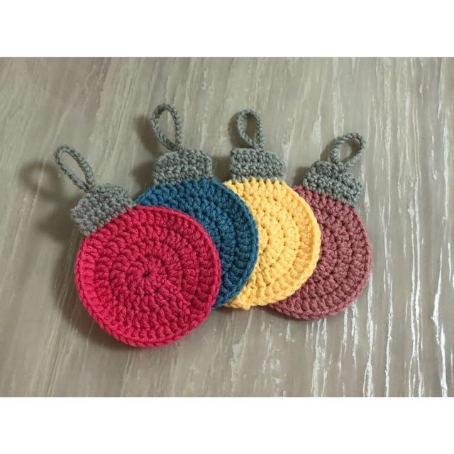 Crochet Christmas Coasters Design Craft Handmade Craft On Carousell