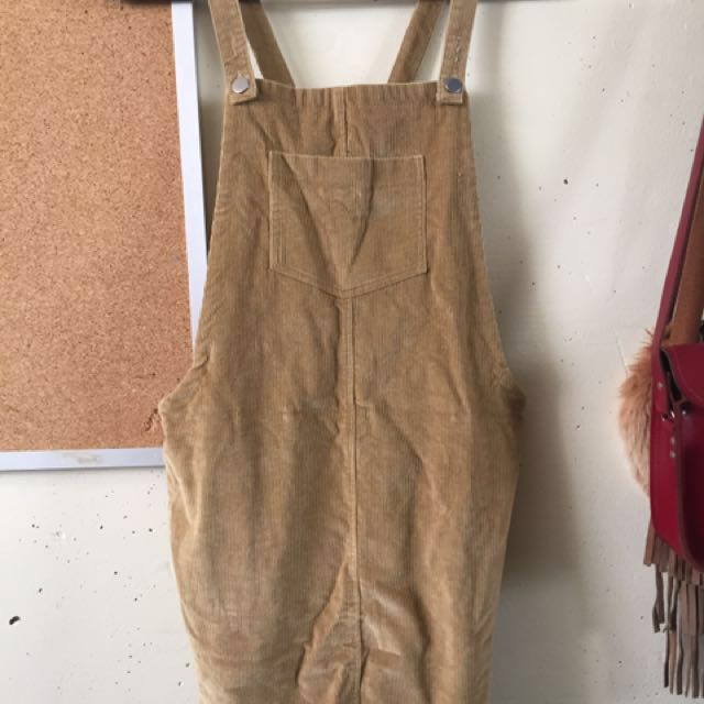 Cute lil corduroy overall dress!!