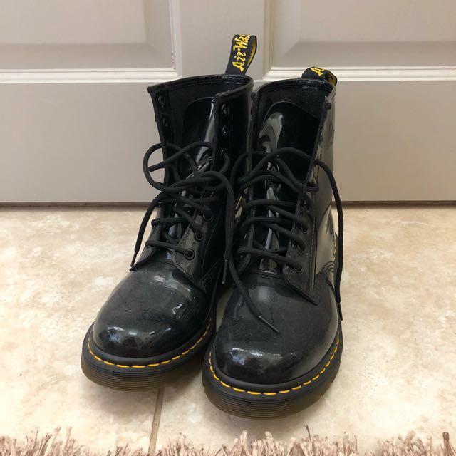 Dr martens patent black 1460 boots