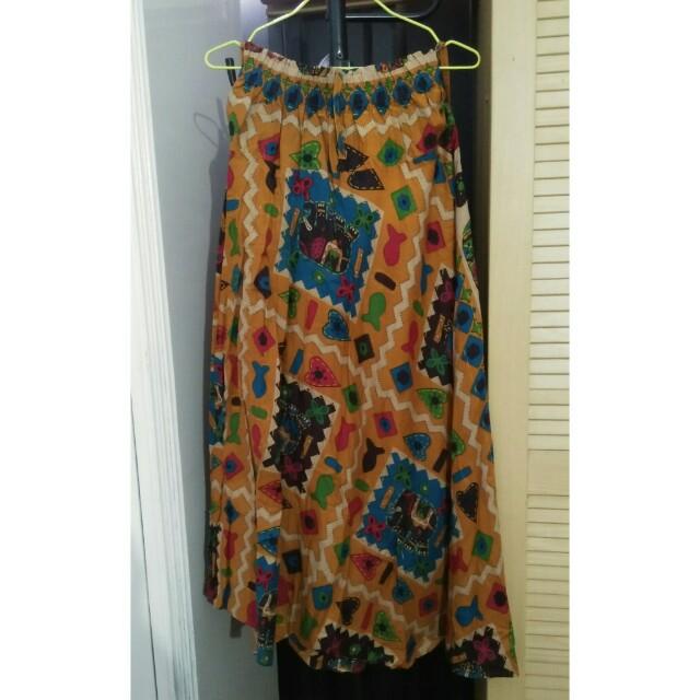Ethnic Flare Skirt