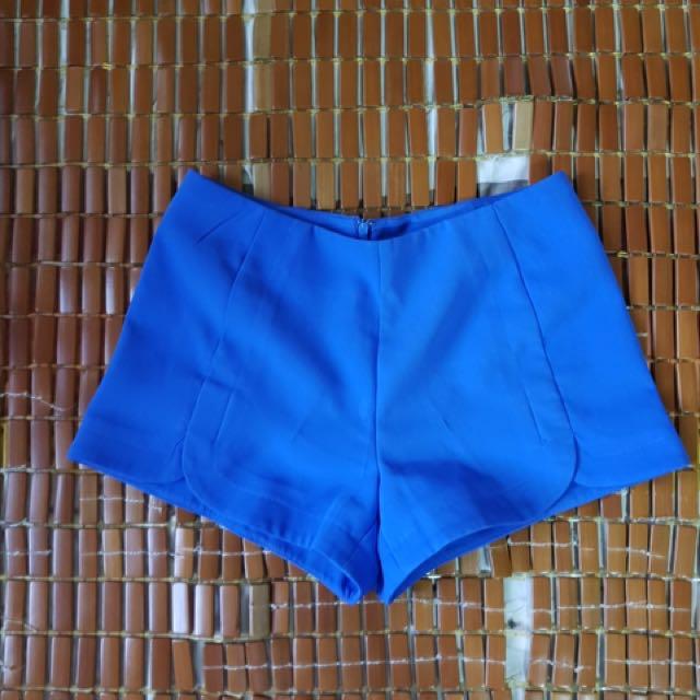 F21 blue shorts