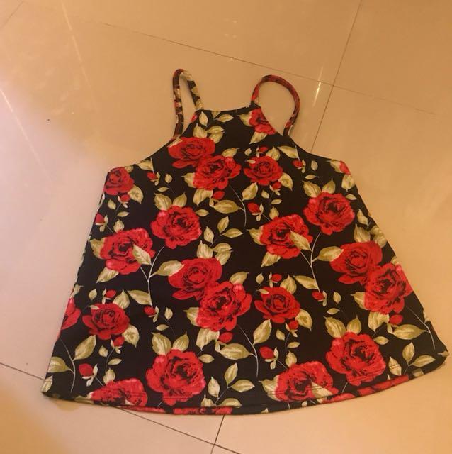 Floral sleeveless