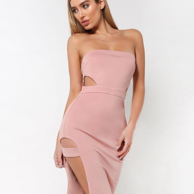 FOR RENT ONLY XS Nude Bodycon dress