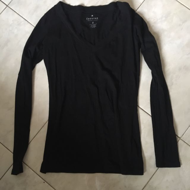 Forever21 black long shirt