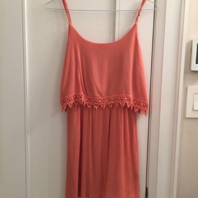 Forever 21 Burnt Orange Dress