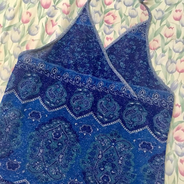Glittered Backless Top